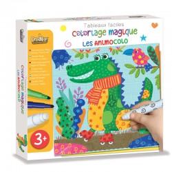 """Tableaux Faciles, Coloriage magique """"Les Animocolo"""""""