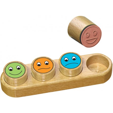 """Wooden stamps set """"Smiley"""""""