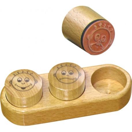 Coffret 3 tampons Notation en bois