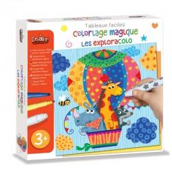 """Tableaux Faciles, Coloriage magique """"Les Exploracolo"""""""