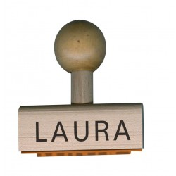 "Wooden first name stamp ""School version"""