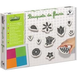 """Kit outils tampons """"Bouquet de fleurs"""""""