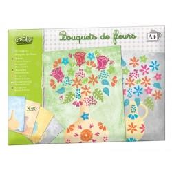 """Kit Supports feuilles """"Bouquet de fleurs"""""""