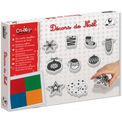 """Kit outils tampons """"Décors de Noël"""""""