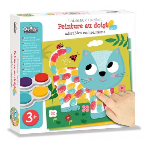 """Tableaux Faciles, Peinture au doigt """"Adorables Compagnons"""""""