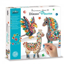 "3D Decorative animals ""Peruvian diamonds"""