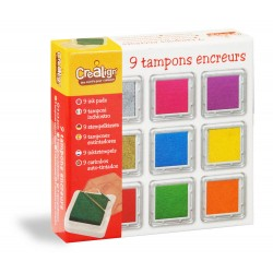 Set of 9 square inkpads
