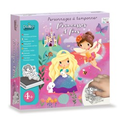 Foam stamp set : Princesses and fairies